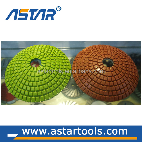 4''/100 mm convex diamond polishing pads resin bond