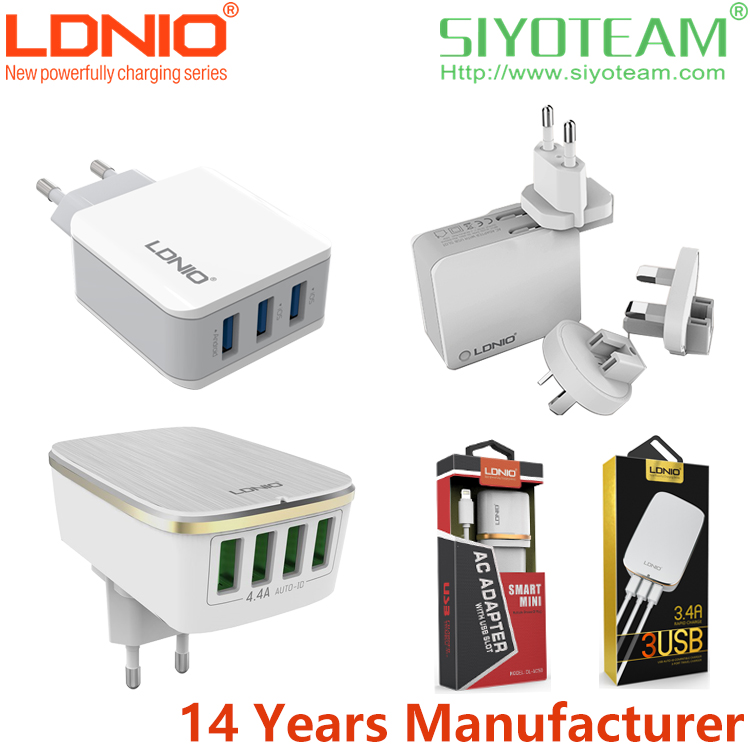 mobile phone accessory charger LDNIO 2 3 4 6 USB 1A-7A Current Quick and Stable usb charger