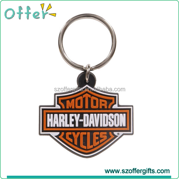 Custom MOD Motor Cycles Soft Rubber PVC Keychain