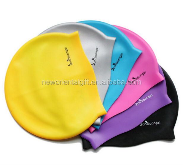 Custom printed silicone swimming cap