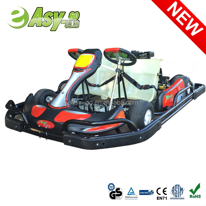 Easy-go hottest 200cc/270cc 2 seats fiberglass body go kart with steel safety bumper pass CE certificate