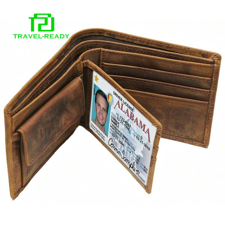 new brown men first layer of leather coin purse wallet