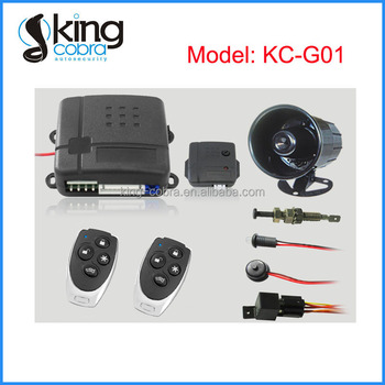 DC 12V Universal Remote Control Car Alarm with 6 Tone Siren