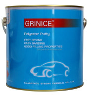 Concrete metal repair polyester car putty