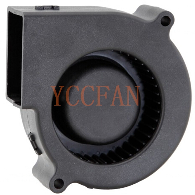 Glass Fiber Reinforced plastic 12V dc blows air 75x75x30mm centrifugal fans