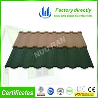 aluzinc roof type tile factory in china /SONCAP colorful stone coated metal roofing shingles/Plain Roof Tiles