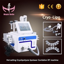 Newest generation Portable cryo +40K Cavitation+RF + Lipo Laser Body Slimming Machine with CE