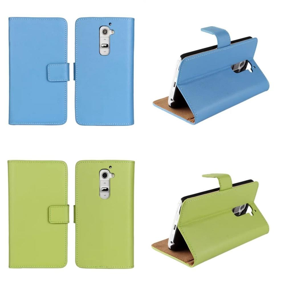 Factory Wholesale Phone Accessories Mobile Leather Wallet Case for LG G2 Book Stand Flip Cover Coque Capinha Cara Para