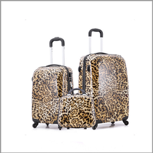 wholesale cheap price fancy colored print ladies travel luggage with travel cosmetic bag
