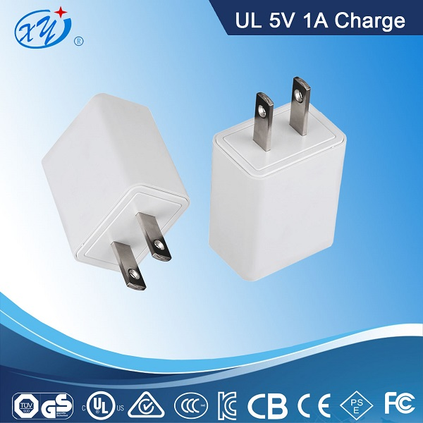 5V DC 1.0A single USB port charger for iphone, samsung,