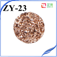 Stock!Flat back 12mm round resin druzy cabochons wholesale