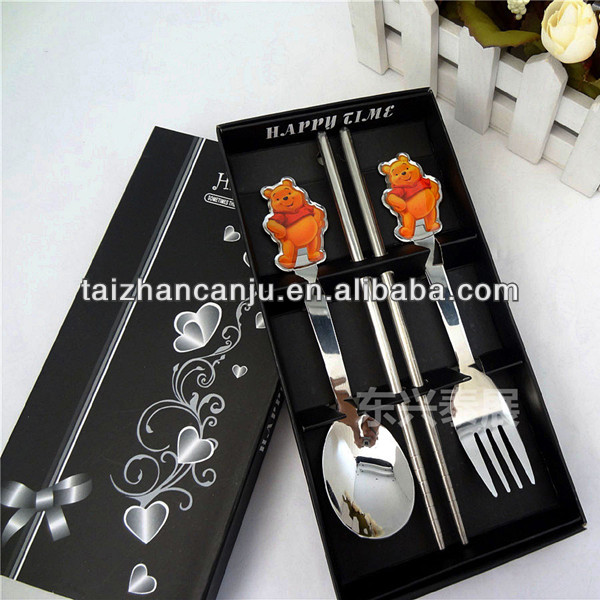 Stainless steel cutlery gift set for children