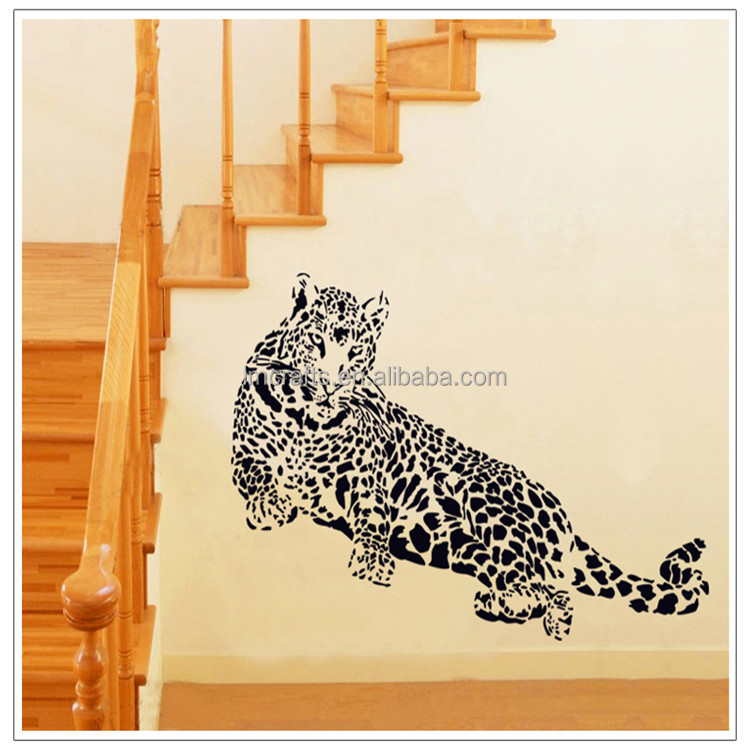 DIY Removable Wall Stickers Animal Leopard Home Decor Mural Decal for Car Living Room TV/Sofa Background AY9029
