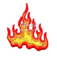 Custom Iron Patches Buy Fire Flames Embroidered Patches