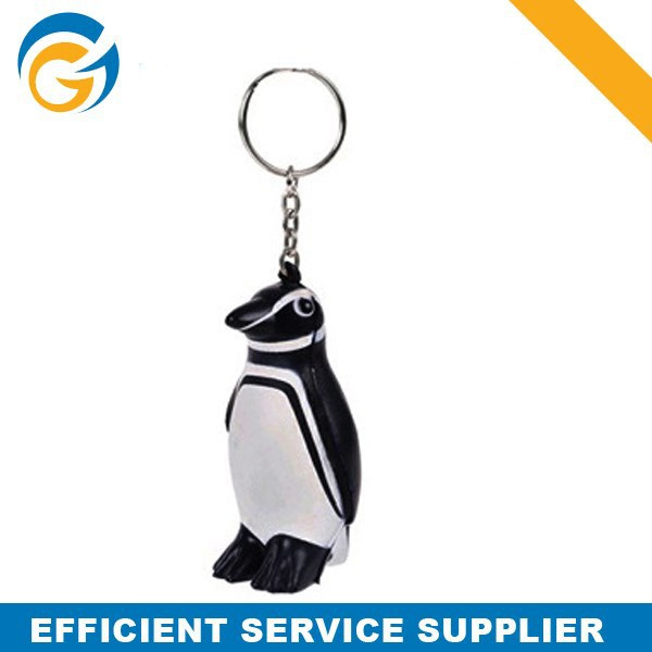 Hotselling Stress Penguin Keyring PU Squeeze Toy