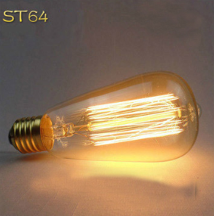 2017 China factory ST64 clear glass a60 e27 110 volt edison vintage led filament bulb