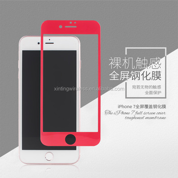 Anti-scratch 0.33mm 2.5D and 9H cover the whole phone tempered glasses screen protector for iPhone 7