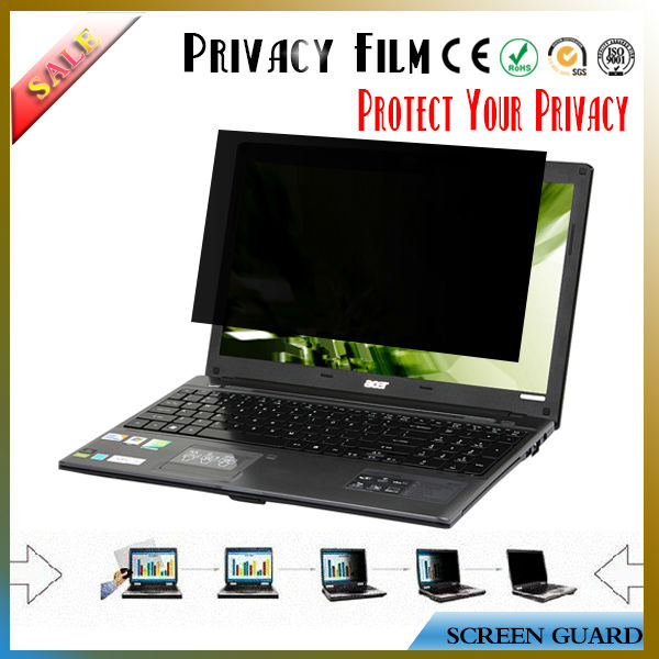 High quality 3M privacy laptop screen protector film / privacy screen protector for macbook air