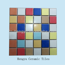 2014 new design tiles with mesh paste