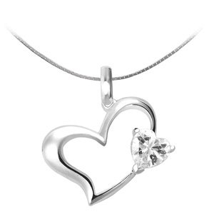 Sleek Heart Shaped Pendant