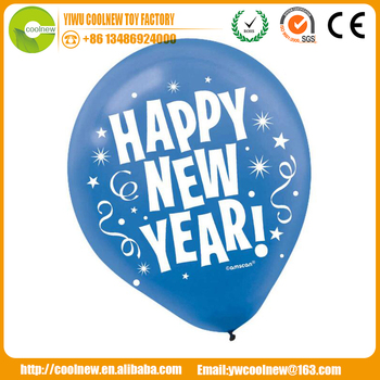 made in china happy new year 36 inch blue Latex Balloon