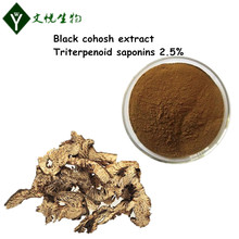 2017 hot sales black cohosh root extract triterpenoid saponin 2.5%