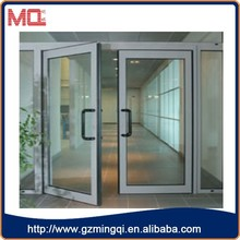 Modern design pvc interior commercial interior glass french doors for house