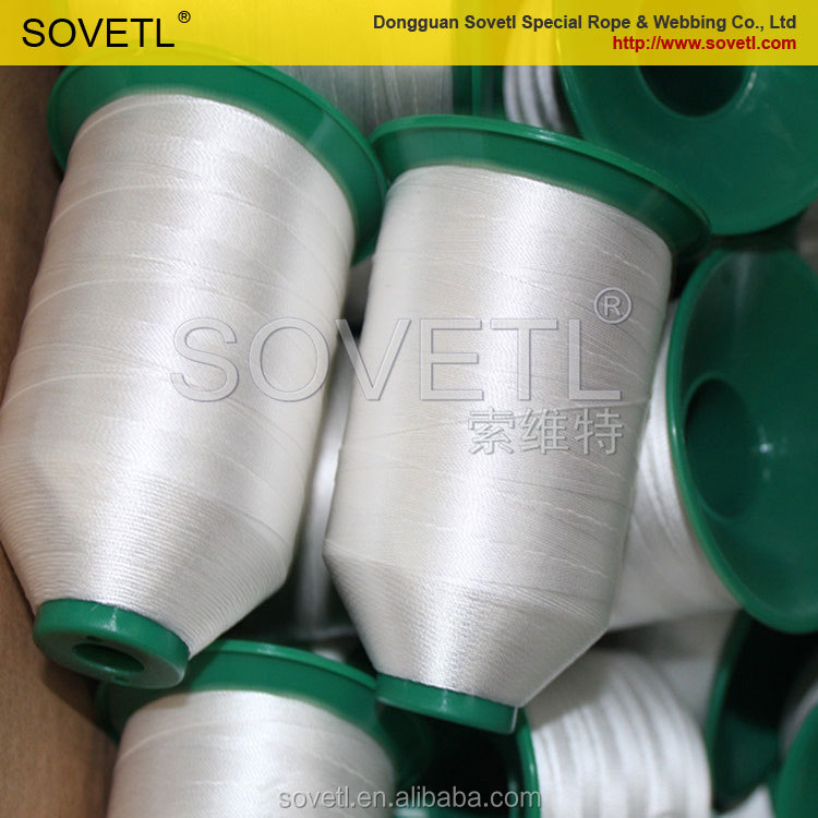Cut resistant UHMWPE thread for sewing machine