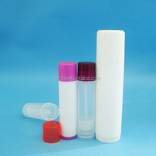 Clear PP lip balm tubes 5g & 15g,white plastic lipstick container