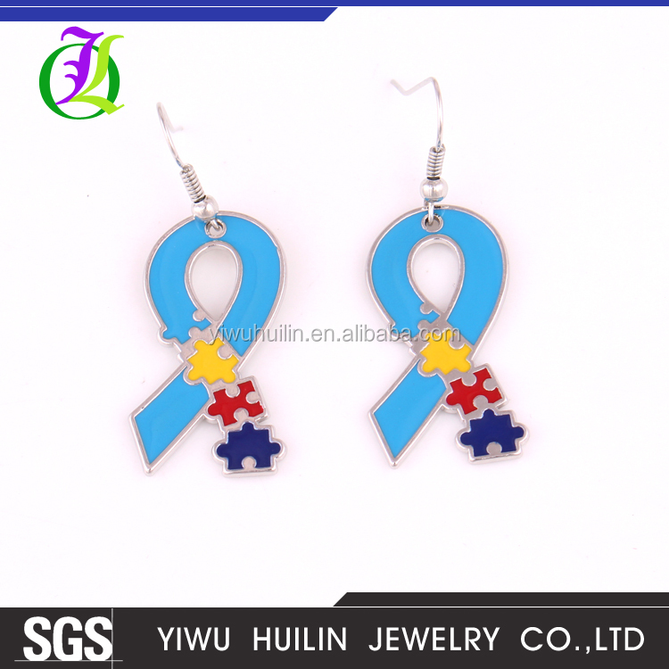 IMG 0872 Yiwu Huilin Jewelry wholesale lake blue silk scarves crystal wholesale fashion earrings for women