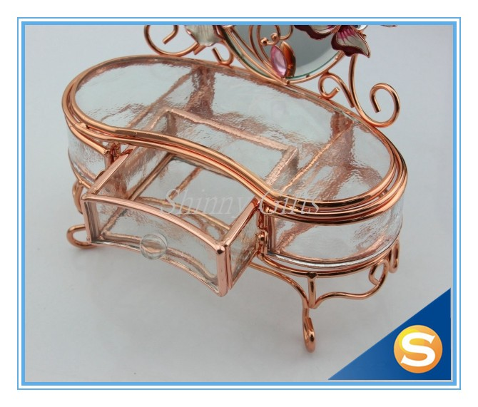 Rose Gold Plating Metal Jewelry Gift Boxes Wholesale