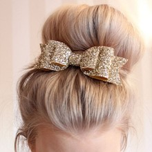 2016 New Fashion Women <strong>Hair</strong> Clips Lady Girls Sequin Big Bowknot Barrette Hairpin <strong>Hair</strong> Bow <strong>Accessories</strong>