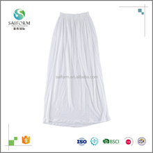 Hot selling high quality lady long white skirt