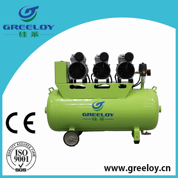 silent oil free air compressor with 3 motors total 1800w power