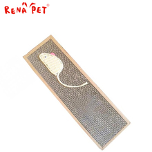 Mouse Style Pet Cat Scratch Play Pad Corrugated Safe Card Board Scratcher Toy