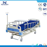 Top sale!! three crank manual hospital nursing furniture medical bed