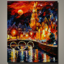Knife abstract wall hanging paintings dancing building