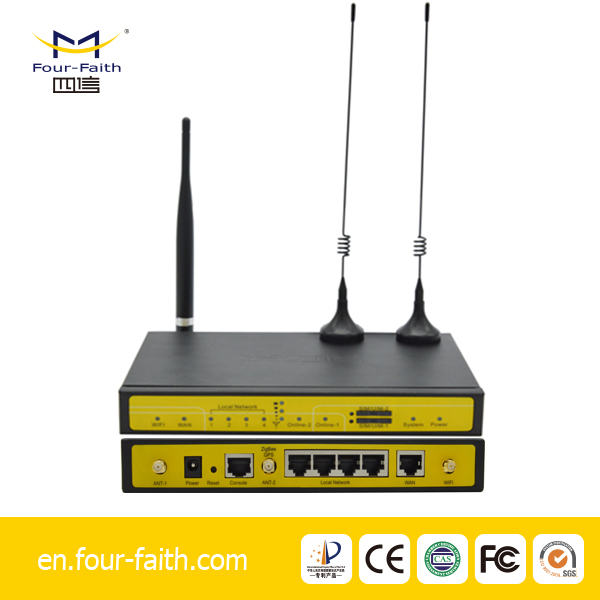 F3946 4g lte mobile dual sim wifi Openvpn Router for CCTV/ IP Camera Surveillance