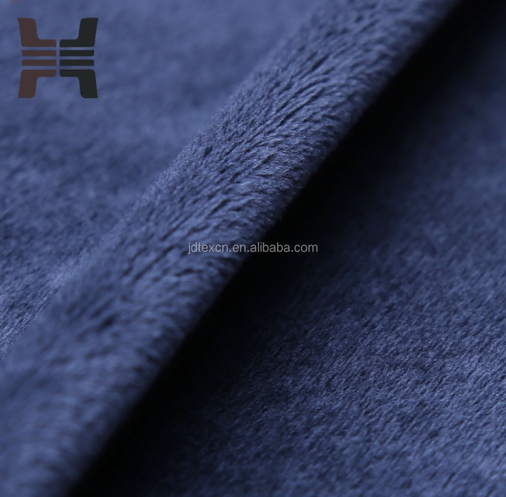 polyester short plush fabric for sofa/shoes lining/home textile/garment/trousers/toy