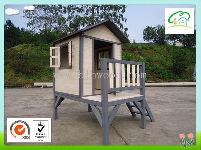 Cheap Wooden Playhouse Wooden Log Cabin with frame