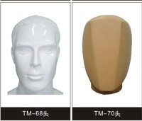 glossy fiberglass factory best price male mannequin head