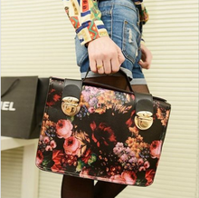 NEW Floral Printed PU Leather Lady bags Tote Shoulder Handbags Hot Item For Sale