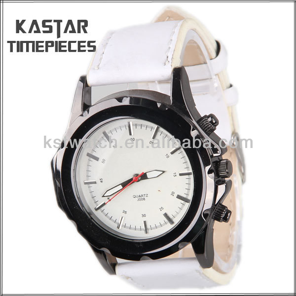 brand white colour watch men