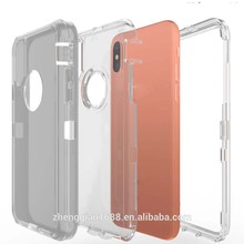 Armor Defender Shockproof Transparent Case For iPhone X 8 7 6 6S 5 5S SE Phone Case Clear Anti-dust Protective Cover