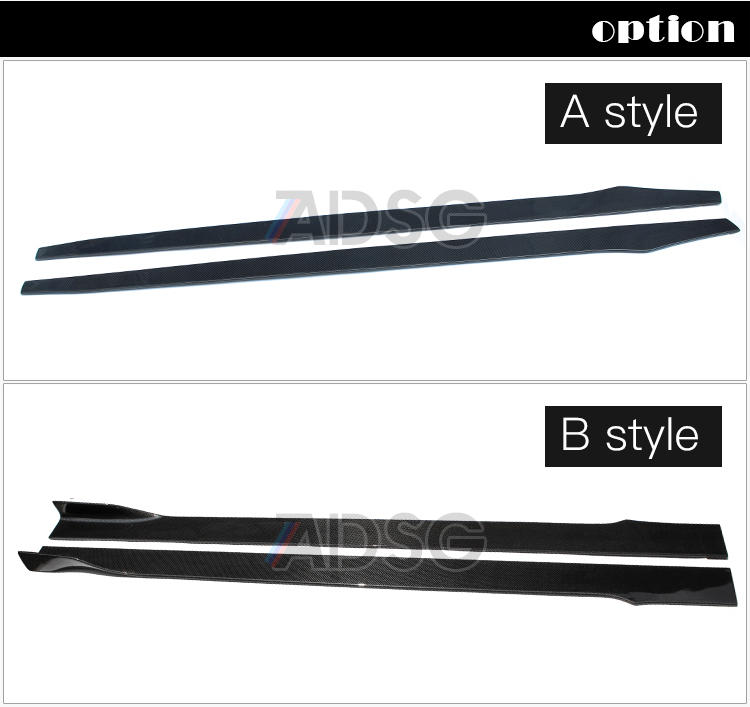 For Mercedes universal carbon fiber side skirt
