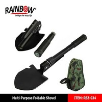 Factory wholesale Small Garden Foldable Camping Steel Shovel