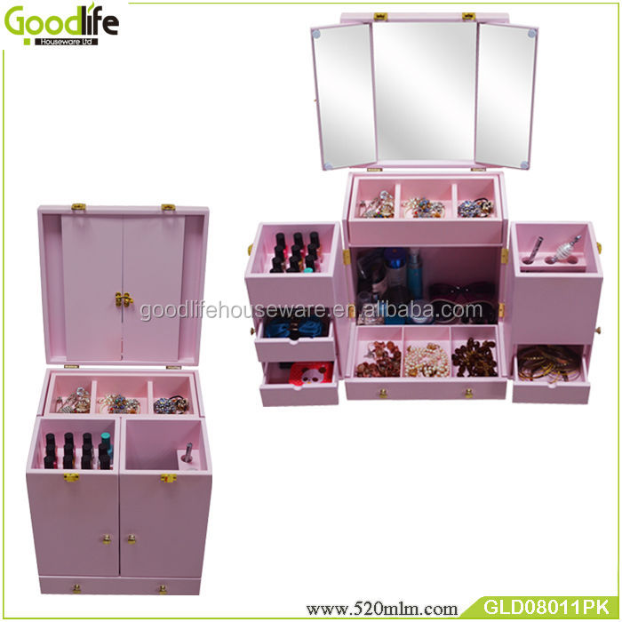 The latest design makeup dresser with mirrors & drawers