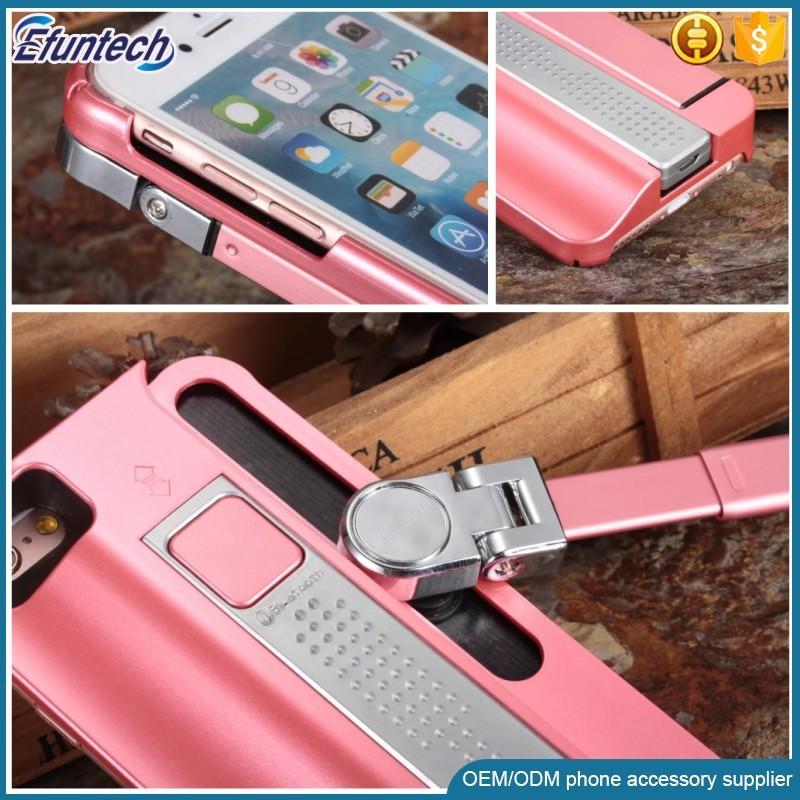 2017 wholesale super light bluetooth selfie stick mobile phone case cover for iphone 6 6 plus case