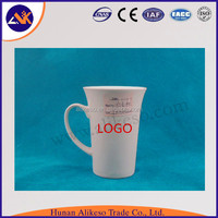 Blank white ceramic coffee mugs wholesale as personalised gifts, cheap ceramic tea cups with handle