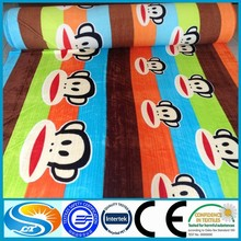 hign quality cotton flannel printing on fabric